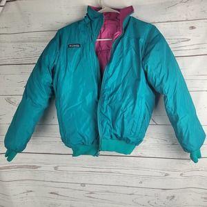Columbia Women Teal Pink Radial Sleeve Ski Jacket